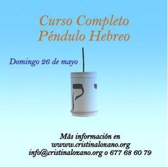 Imagen de CURSO PÉNDULO HEBREO