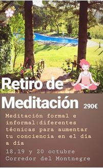 Imagen de RETIRO DE MEDITACIÓN CORREDOR DEL MONTNEGRE
