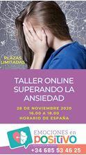 Imagen de Taller Online: SUPERANDO LA ANSIEDAD